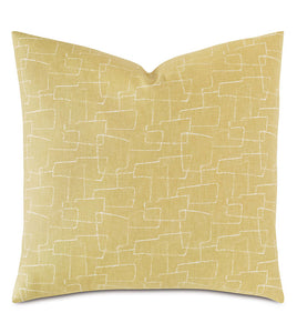 Twin Palms Abstract Decorative Pillow 22x22