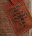 Leather Luggage Tag, Adventure