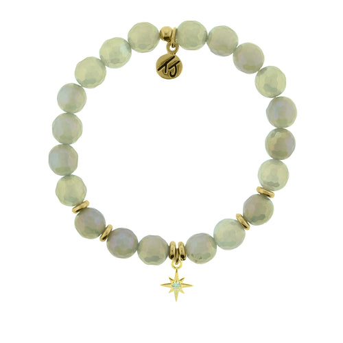 TJ Mystic Grey Agate It's Your Year Charm Bracelet