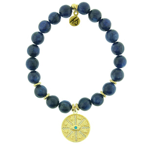 TJ Kyanite Protection Gold Charm Bracelet