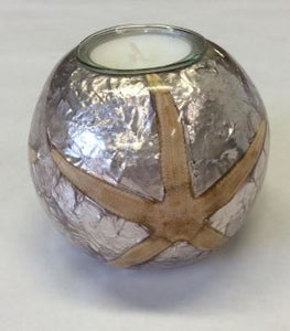 Silver Starfish Tealight Holder