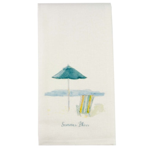 Beach Chair Blue Dishtowel