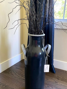 Vase with Metal Handles