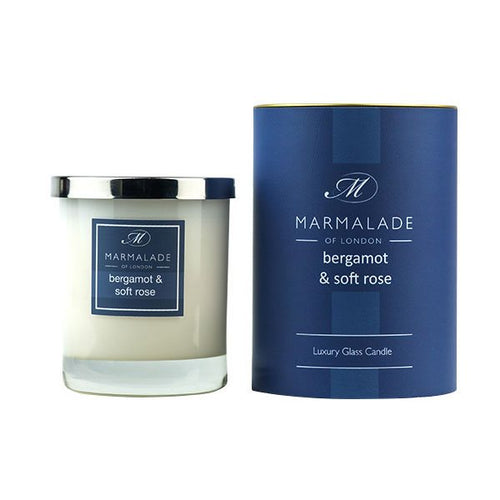 Bergamot & Soft Rose Glass Candle
