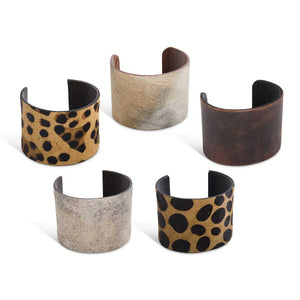 KK Animal Hide Cuff Bracelet