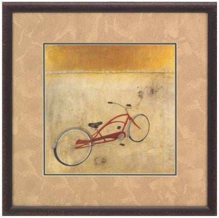 Iconic Pineapple Bike Framed Art