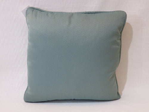 Custom Solid Pillow in Aqua