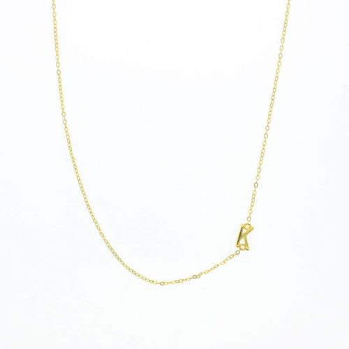 Gold Balance Letter Necklace