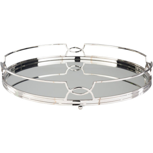 Silver Mirror Decorative Tray