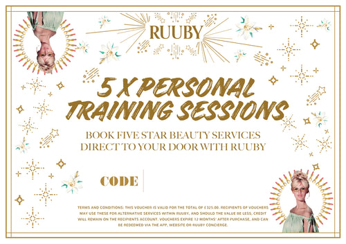 Ruuby Voucher for 5 Personal Training Sessions