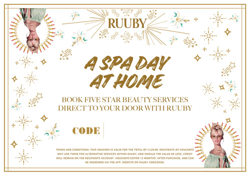 Ruuby Voucher for A Spa Day at Home