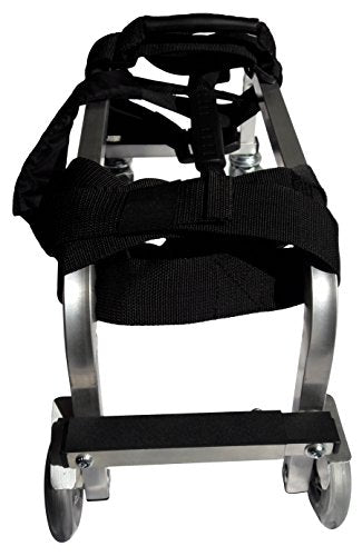 Massage Table Trolley for Professionals - High Quality Aluminium Frame - Light, Durable, Solid, Highly Mobile - 3 year warranty (Air-Pro, Silver)
