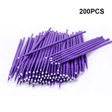 200PCS Micro Applicators Brushes, Disposable Eyelash Extension Swabs for Eyelashes Extensions (Lila)