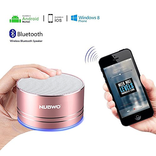 NUBWO Mini Wireless Bluetooth Speaker Portable - Rose Gold