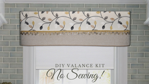 Traceable Designer DIy cornice valance kit, make custom window valances without sewing, three no-sew styles in ONE kit!