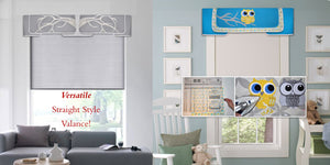 Traceable Designer no-sew valance kit. Easily create no-sew valances to fit any window size.