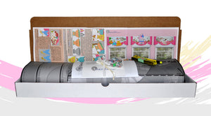 Traceable Designer no-sew children's room decorating kits for nursery and bedroom window valances, train, teddy bear, princess and more.