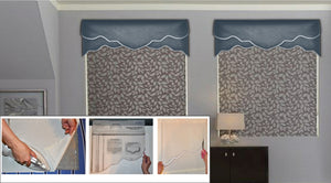 Traceable Designer DIY valance kit, make custom window valances without sewing