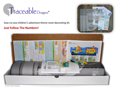 Traceable Designer children's room decorating kit, just follow the numbers.