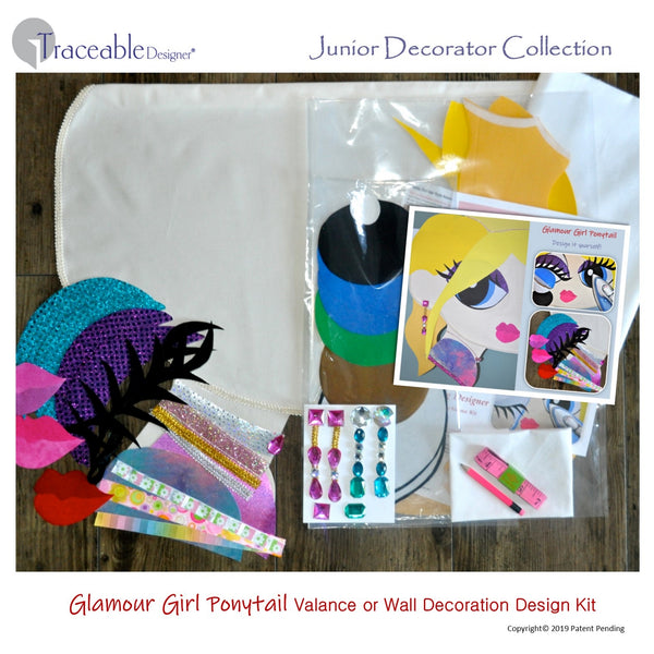 Junior Decorator room decorating craft kit for girls-tweens, glamour girl style sporty blonde