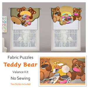 Children's Teddy Bear Valance, DIY Room Decor For Baby Nursery, No Sewing!