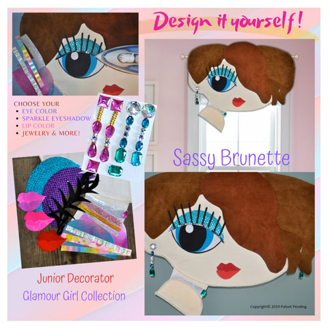 Junior Decorator room decorating craft kit for girls-tweens, glamour girl style sassy