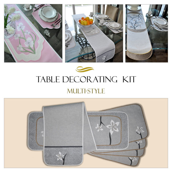 Traceable Deaigner DIY no-sew table decorating kit includes easy slide and trace no-sew forms and traceable iron-on accents. Turn your table into a work of art!