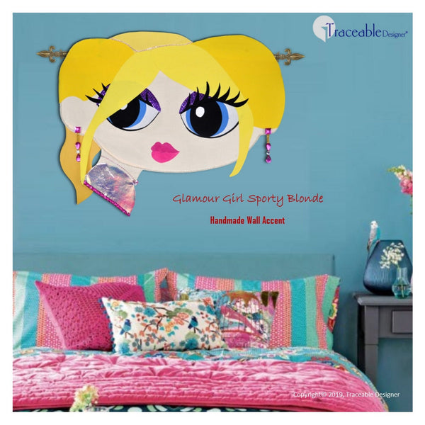 Glamour Girl room decor, children's room decorating no-sew fabric craft