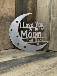 Rustic I Love You to the Moon and Back