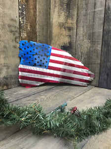 "23"" Tattered American Flag"