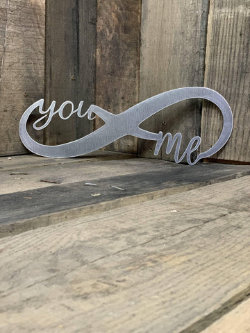 Rustic You and Me Infinity Sign
