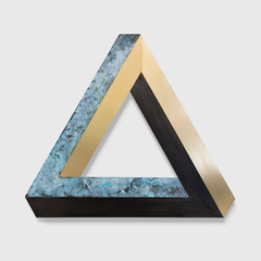 ANDREAS DIAZ ANDERSSON - OXIDIZED BRASS SCULPTURE