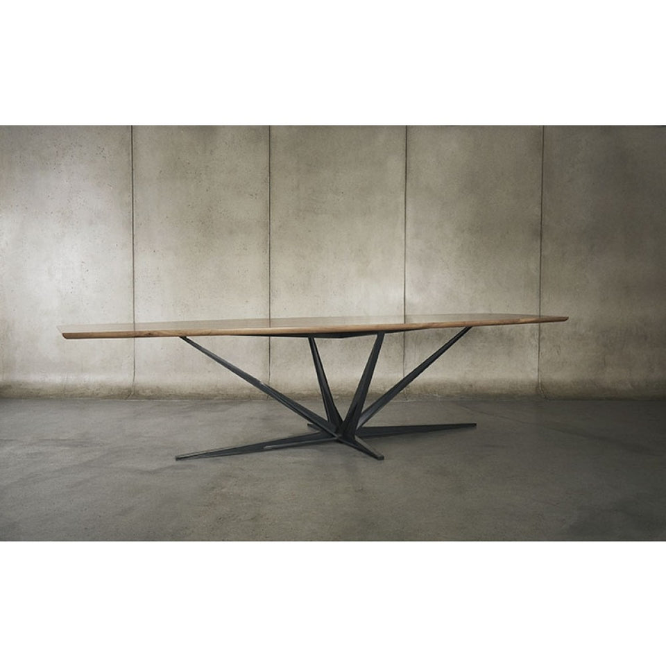 Walnut Dining Table with Steel Atomic Base