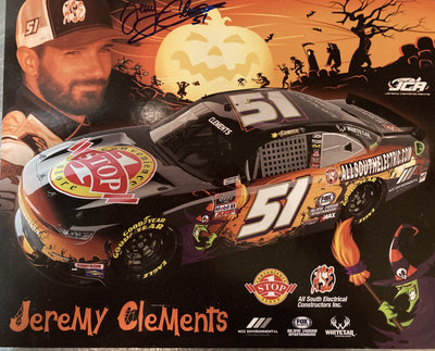AUTOGRAPHED Jeremy Clements NASCAR Hero Card
