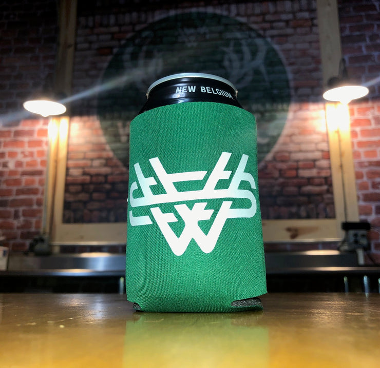 winter green Whitetail Smokeless Beer/Soda Koozie Can Cooler