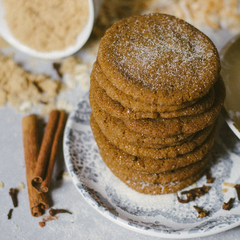 Autumn Spice Ginger Molasses Vegan Cookies Tubby's Taste