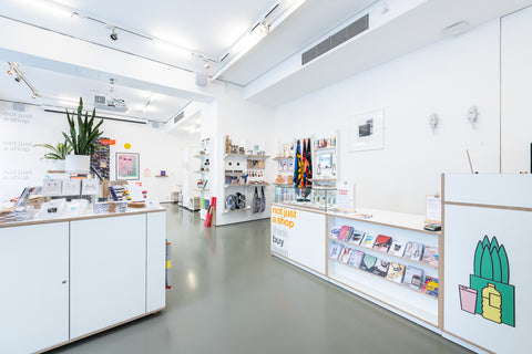 Image of Not Just a Shop store, illustration and design store.