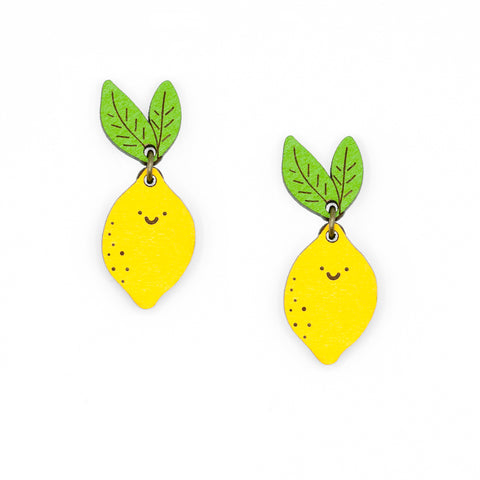 Mers Lemon earrings with Gemma Bordes sustainable fruits