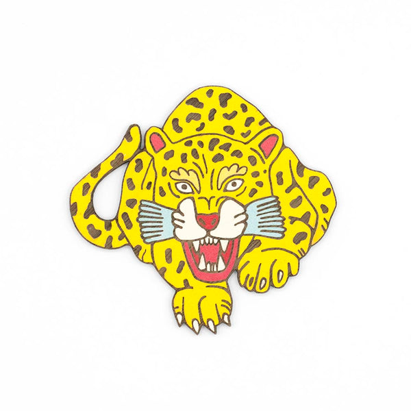 Hunting Leopard Brooch