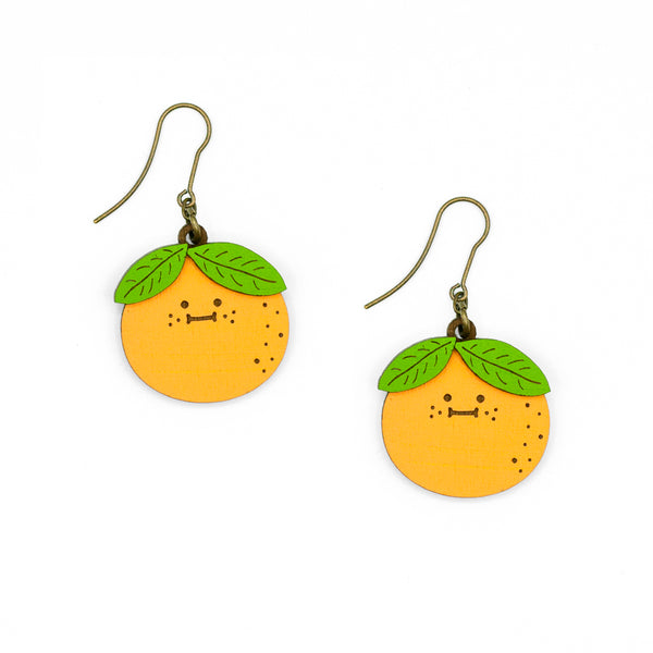 Mrs Orange Earrings