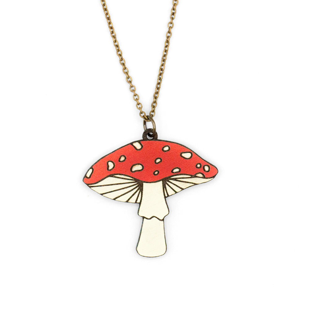Amanita Muscaria Necklace