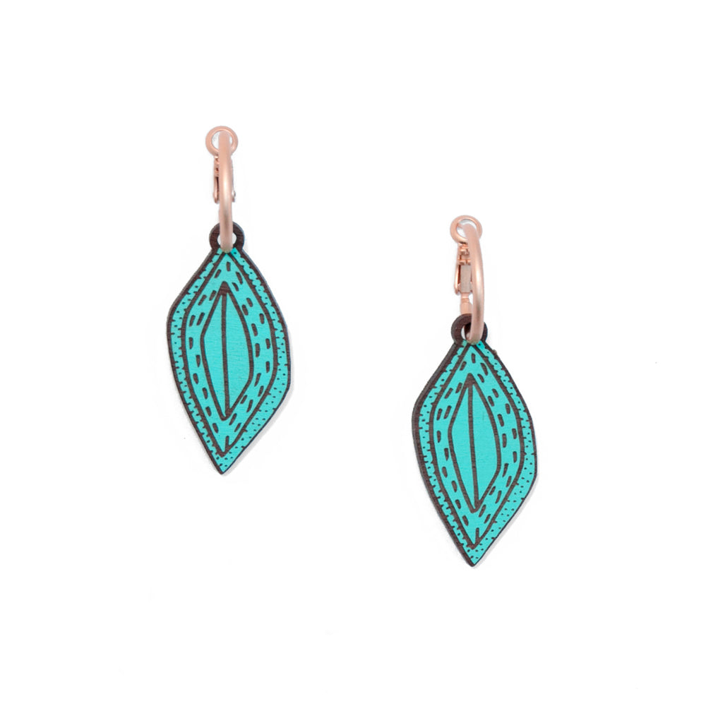 Secret Seed Teal Earrings