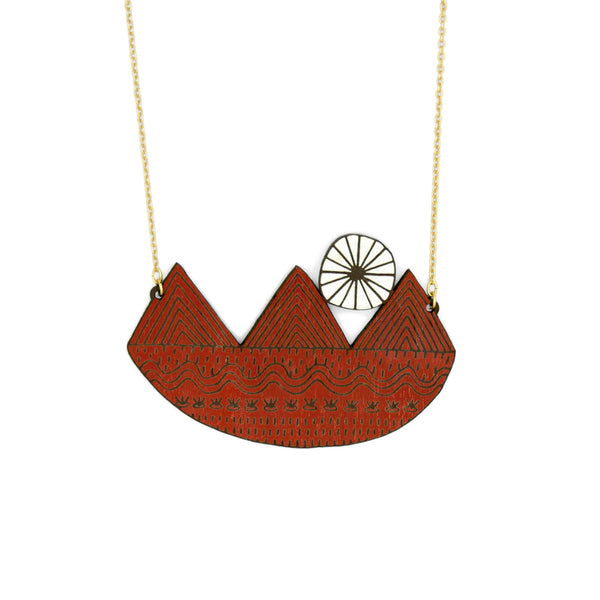 Sun & Landscape Necklace