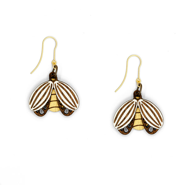 Flying Beetle Earrings