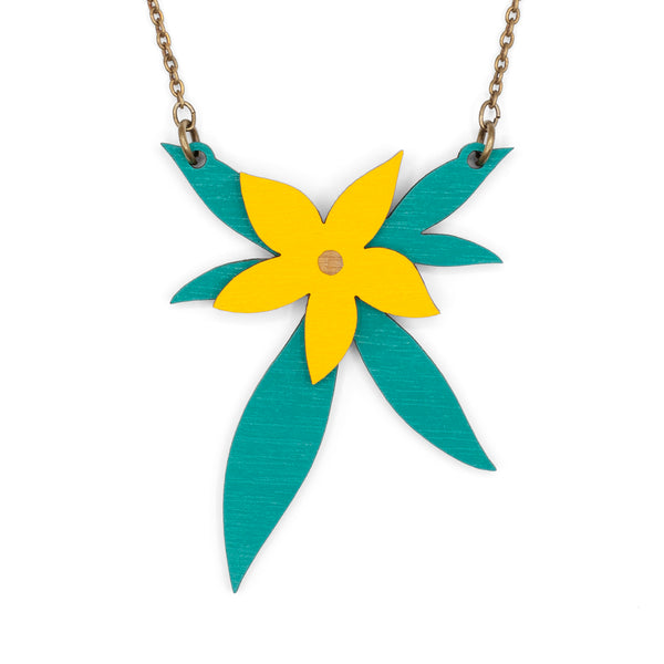 Thriving Yellow Flower Necklace