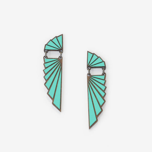 Ailes Teal Earrings