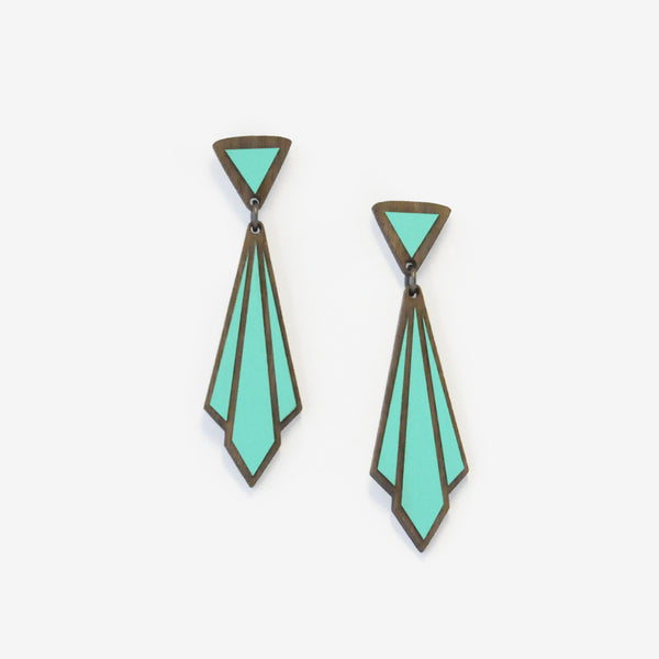 Écharpe Teal Earrings