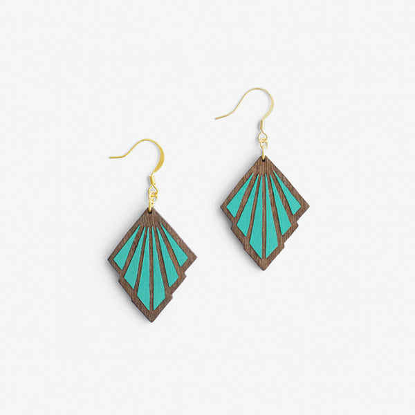 Goutte Teal Earrings