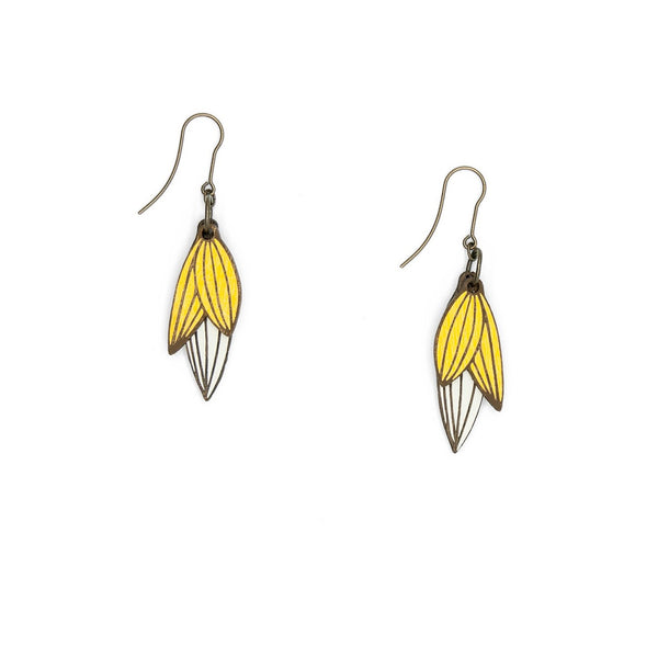 Madagascar Leaf Hook Earrings