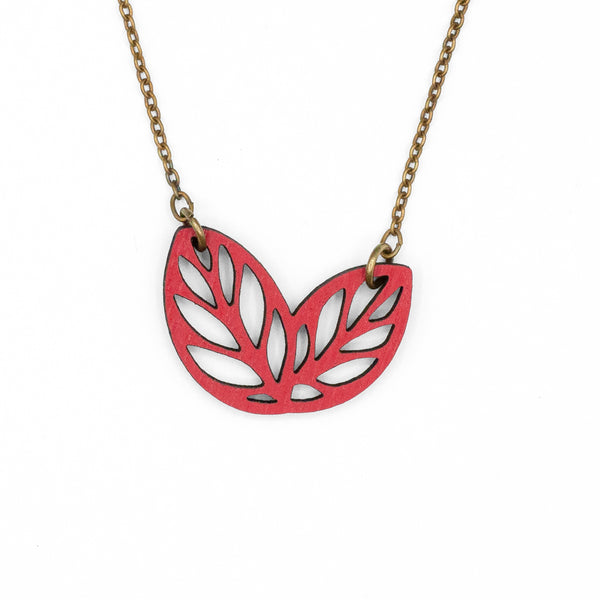 Ribbon Bush Red Necklace